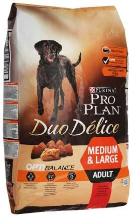 Сухой корм для собак PRO PLAN Duo Delice Medium & Large Adult, говядина и рис, 10кг