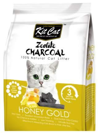 Комкующийся наполнитель для кошек Kit Cat Zeolite Charcoal цеолитовый, 4 кг