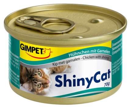 Консервы для кошек Shiny Cat Цыпленок с креветками 70 г