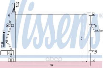 Радиатор кондиционера Nissens 94525