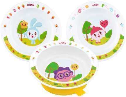 Тарелка детская lubby new на присоске малышарики 400 мл от 6 мес