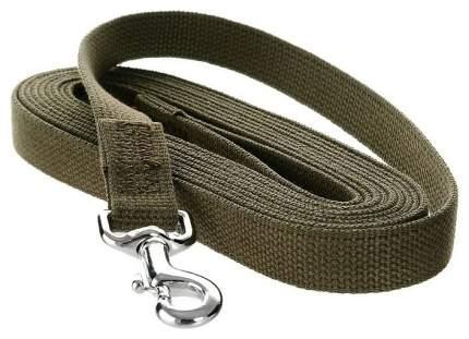 Поводок для собак V.I.Pet ПБ5/25С брезент сшивной с стальным карабином 500 х 2,5 см
