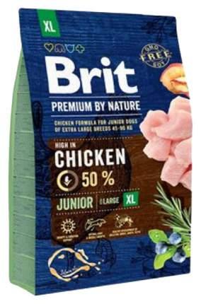 Сухой корм для щенков Brit Premium By Nature Junior XL, гигантских пород, курица, 3кг