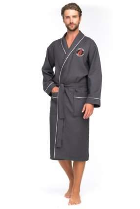 Бамбуковый вафельный халат Suprême 415 (мужской) 415/серый/L