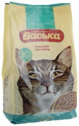 Сухой корм для кошек Васька, для профилактики МКБ, морской коктейль, 2кг