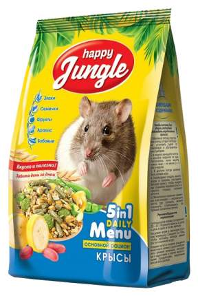 Корм для крыс Happy Jungle витаминизированный 0.4 кг 1 шт