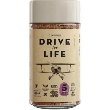 Кофе растворимый живой Drive for Life extra strong 100 г