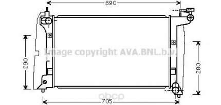 Pадиатор системы охлаждения Toyota Corolla, Corolla Verso 01-04 Ava TOA2289