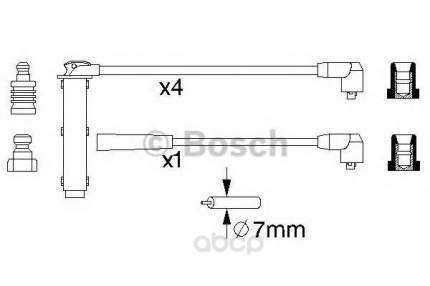 Комплект высоковольтных проводов Bosch 0986356731