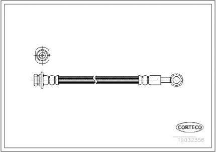 Шланг тормозной CORTECO 19032356