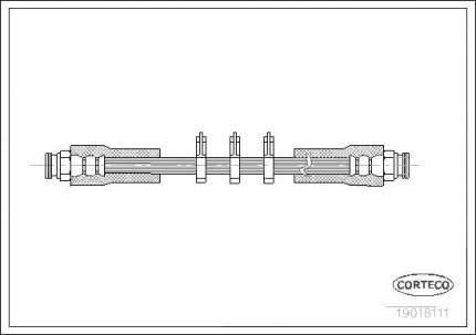 Шланг тормозной системы CORTECO 19018111