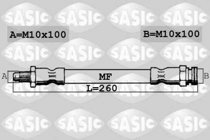 Шланг тормозной системы SASIC SBH0168