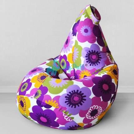 Кресло-мешок MyPuff Пуэрто Плата Фиолетовый, размер L, хлопок, мультицвет