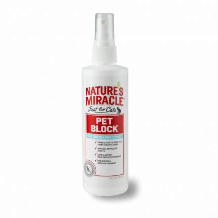 Средство отпугивающее Nature's Miracle JFC Pet Block Repellent Spray,  237мл