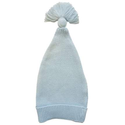 Шапка детская Папитто вязаная с отворотом Голубой 73-9005 р.36-40