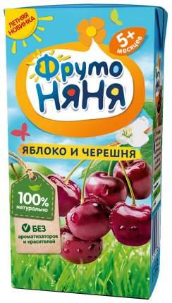 Нектар ФрутоНяня из яблок и черешни осветленный с 5 мес. 200 мл