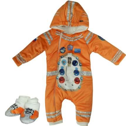Комбинезон утепленный Папитто с капюшоном Космонавт оранжевый 11-521 р.20-62