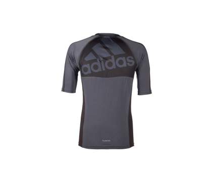 Рашгард Adidas Grappling Rashguard Short Sleeve, granite/black, S INT