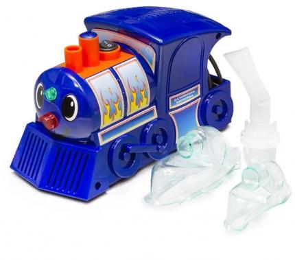 Ингалятор компрессорный Паровозик AMNB-502 Amrus для аэрозольной ингаляции, детская маска