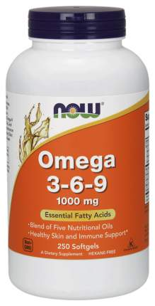 NOW Omega 3-6-9 1000 250 капсул
