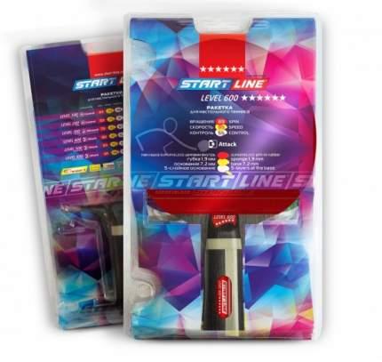 Ракетка для настольного тенниса Start Line 12703 Level 600, черно-красная