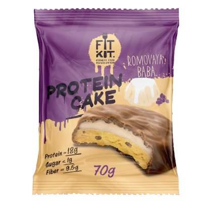 Fit Kit Protein Cake 70 г (вкус: ромовая баба) Протеиновое печенье