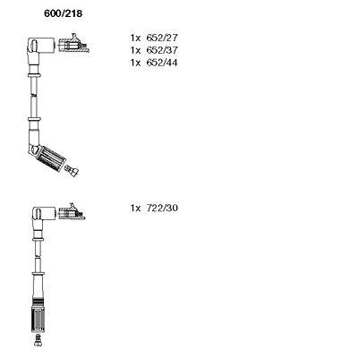 Комплект проводов зажигания BREMI 600/218