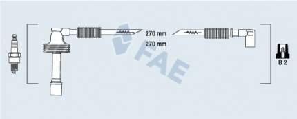 Комплект проводов зажигания FAE 85481