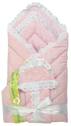 Одеяло на выписку L'Abeille, 4 предмета Фунтик 6166 розовый