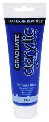 Акриловая краска Daler Rowney Graduate голубой 120 мл