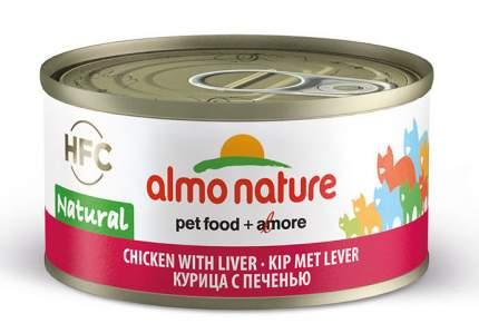 Консервы для кошек Almo Nature HFC Natural, курица с печенью, 70г