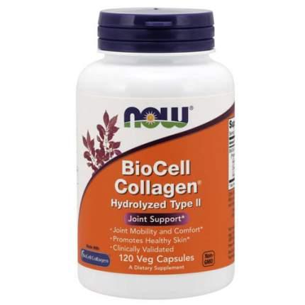 Биоактивный коллаген 2го типа - NOW BioCell Collagen - Hydrolyzed Type II (120 капсул)