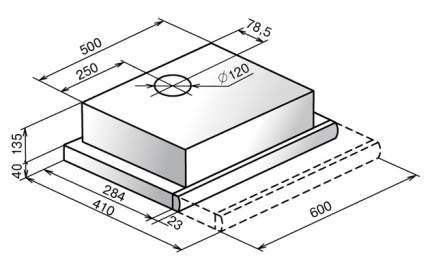 Вытяжка встраиваемая Elikor Выдвижной блок H1M-GA Silver