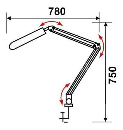 Настольный светильник Трансвит Дельта белый 1В-Е-2G7 11 Вт струбцина