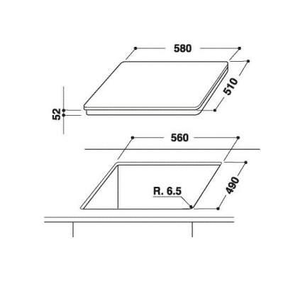 Встраиваемая варочная панель индукционная Hotpoint-Ariston KID 641 B B Black
