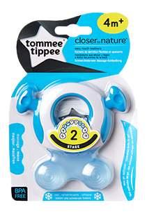 Прорезыватель детский охлаждающий tommee tippee Closer To Nature голубой
