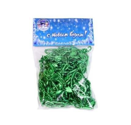 Крючки для елочных украшений 6 см, 100 шт, зеленый Е6082