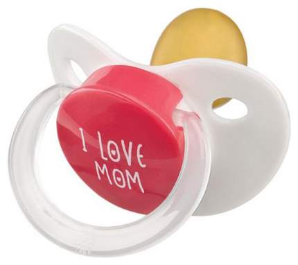 Латексная пустышка Happy Baby I love Mom/I love Dad 13016