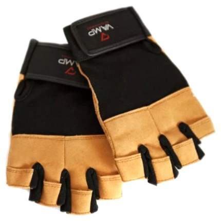 Перчатки для тяжелой атлетики и фитнеса VAMP 530, коричневые, L