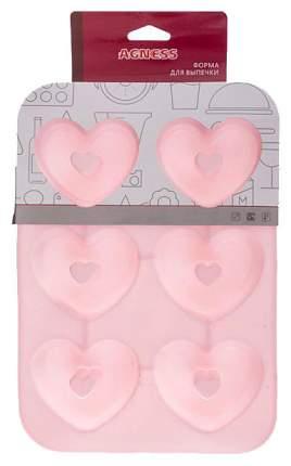 Форма для выпечки Agness 710-316 Розовый