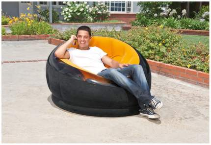 Надувное кресло Intex «Empire Chair» (112х109х69 см) с68582 Оранжевый