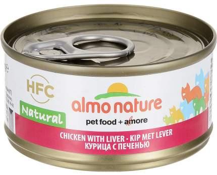 Консервы для кошек Almo Nature HFC Natural, курица с печенью, 24 шт по 70г