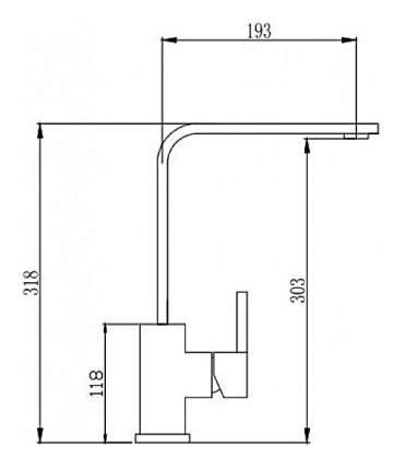 Смеситель для кухонной мойки Seaman SSN-3007 395365 хром