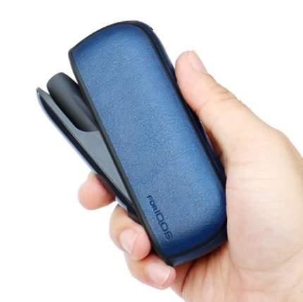 Синий чехол для IQOS 3 эко-кожа