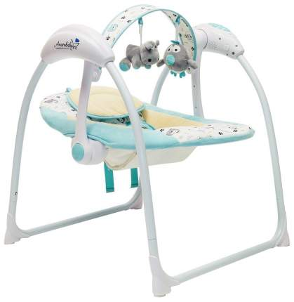 Электронные качели детские AMAROBABY Swinging Baby TURQUOISE (бирюзовый)