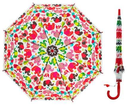 Зонт детский Sima-land полуавтоматический ные слоники  красный