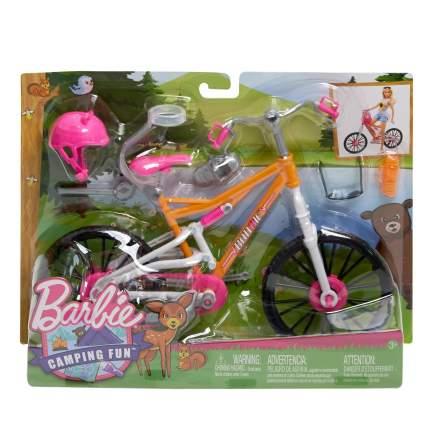 Игровой набор Barbie Велосипед Барби + шлем, очки, бутылка для воды FNY36