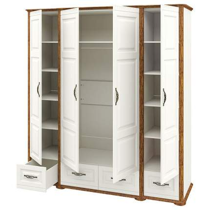 Платяной шкаф Мебель-Неман Марсель МН-126-04 NEM_MN-126-04 204x66x220, дуб кантри/крем