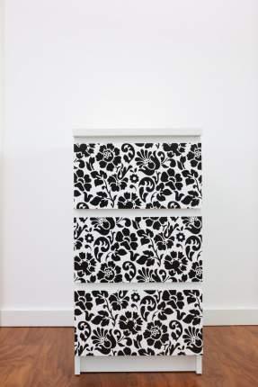 Пленка самоклеющаяся D-C-fix 3098-200 Декор узор цветы черный 15х0.45м