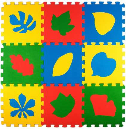 Развивающий коврик Eco Cover Листья 33*33 см